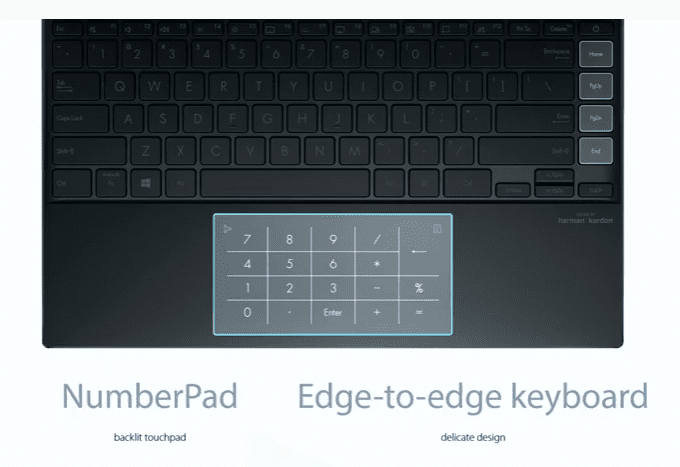 Edge to Edge Keyboard with ASUS NumberPad 2.0
