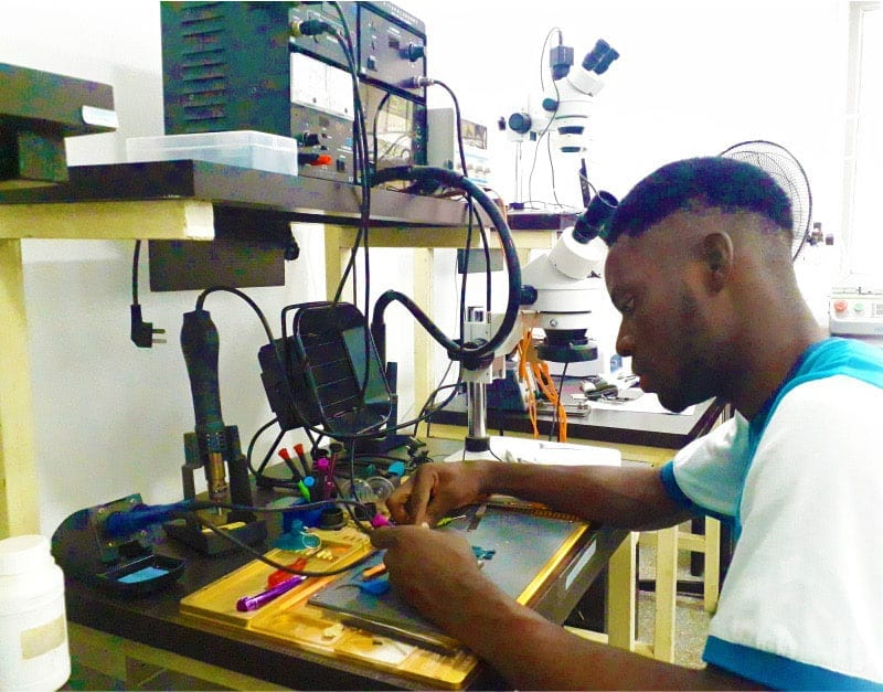 Repairing a Phone in the Lab