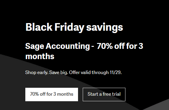 Sage US Black Friday