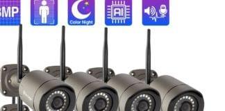 Techage 8CH Wireless CCTV Camera Security System