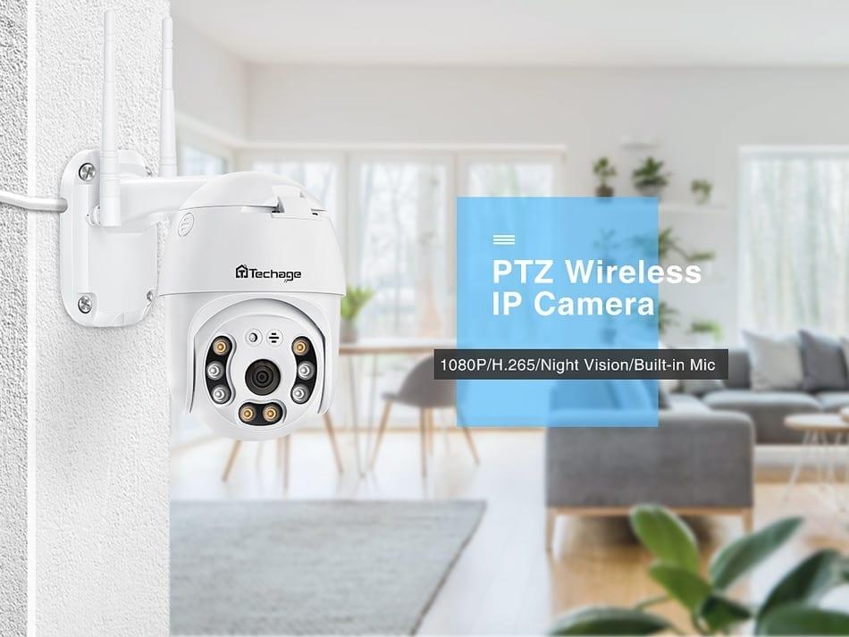 Techage 5MP HD PTZ IP Wireless Security Camera