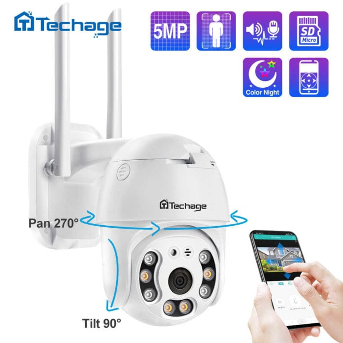 Techage 5MP PTZ IP Wireless Security Camera