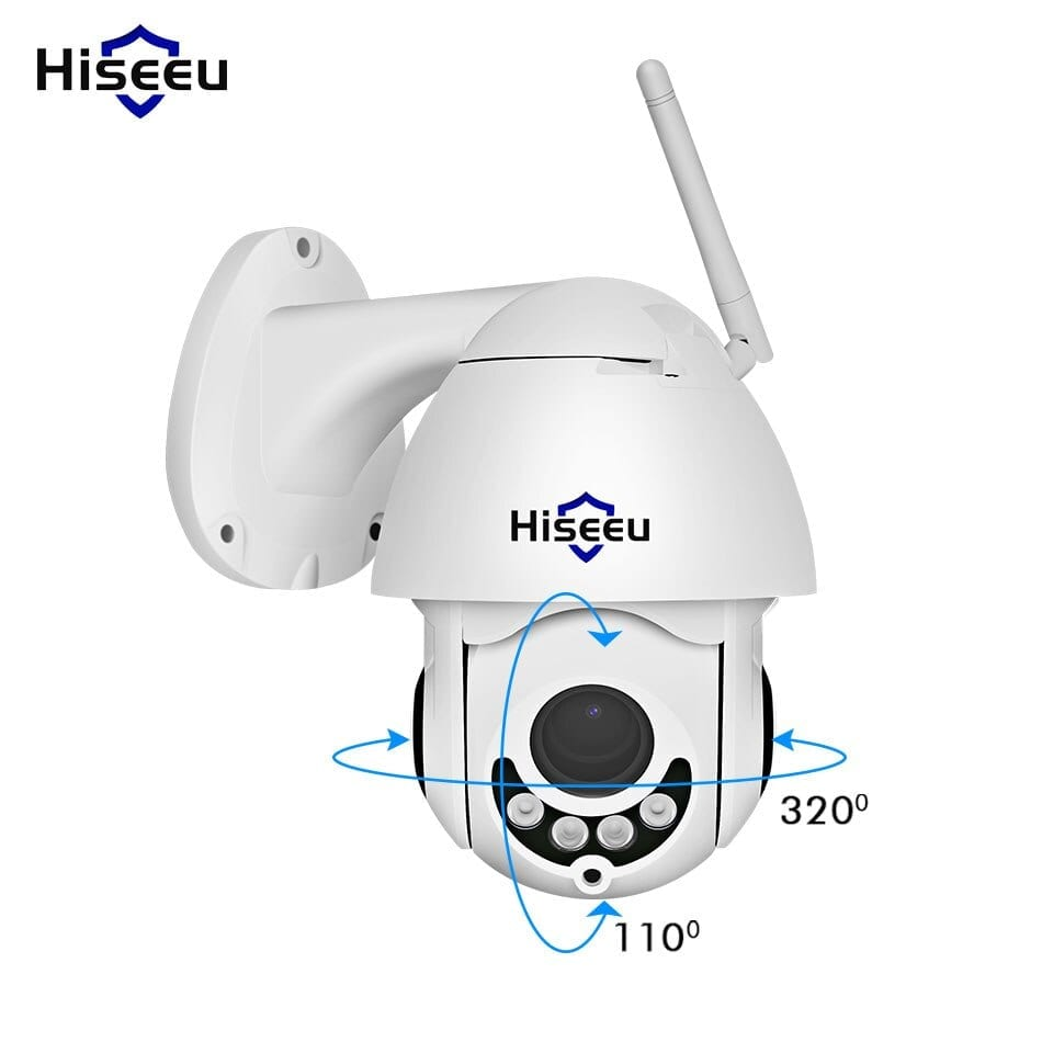 Hiseeu 1080P Wireless PTZ Speed Dome IP Camera