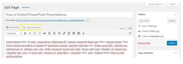 Embed PowerPoint in WordPress