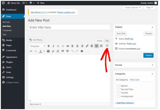 How to Remove Distraction on WordPress