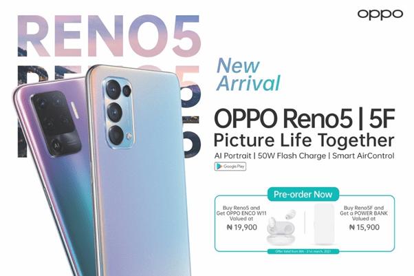 Pre-order Reno5 and Reno5 F