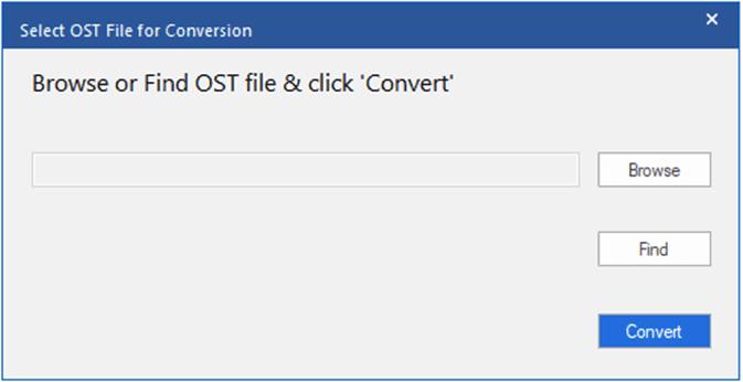 Select OST File Conversion