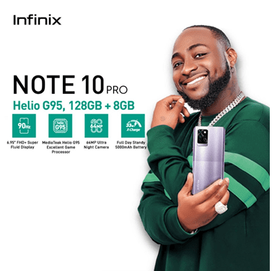 Infinix Note 10 Pro comes with Helio G95