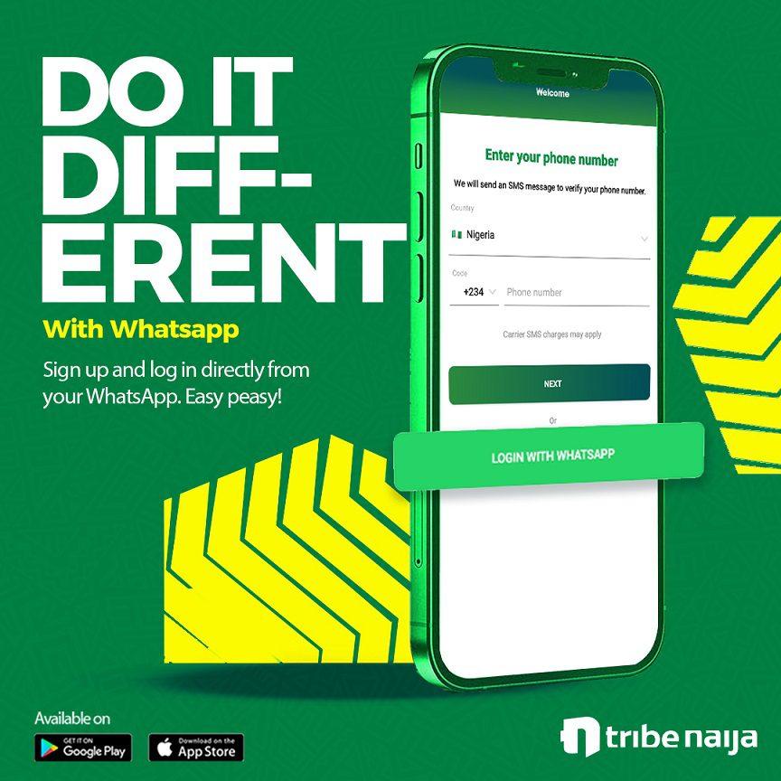 WhatsApp Registration for Tribe Naija