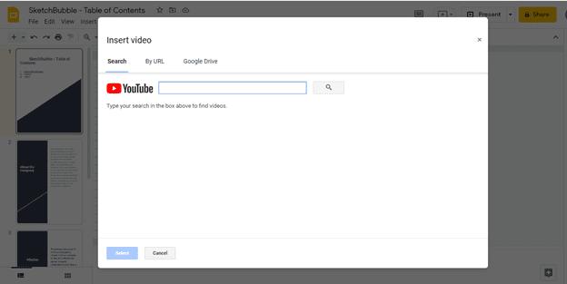 Insert Video on Google Slides