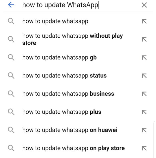 Google Autosuggests