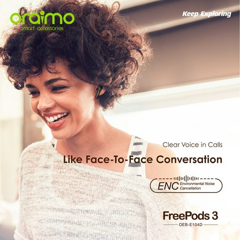 oraimo freepods 3 Environment Noise Cancellation