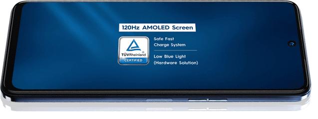Tecno Camon 18 Premier has a 120Hz AMOLED Screen